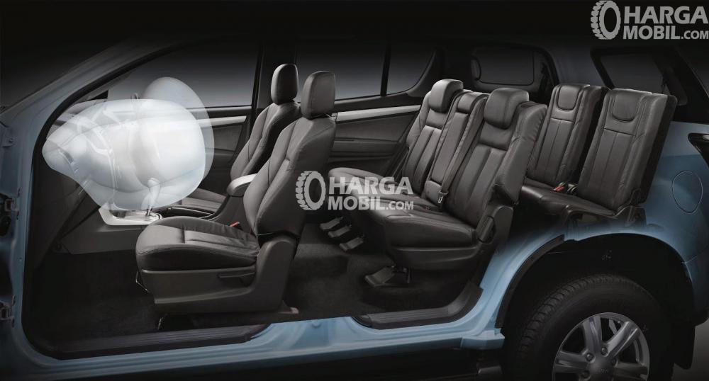 fitur SRS Airbag sudah dilengkapi untun mobil Isuzu Mu-X 2017