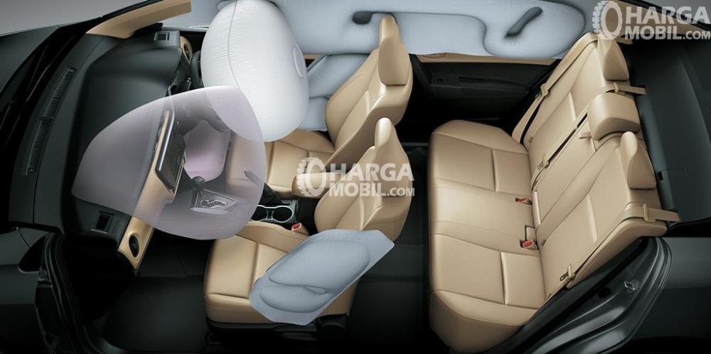 fitur dual air bag mobil Toyota Corolla Altis facelift 2017 di bagian depan mobil