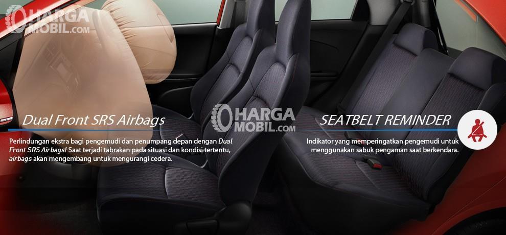 Fitur airbag mobil Honda Brio Satya 2016