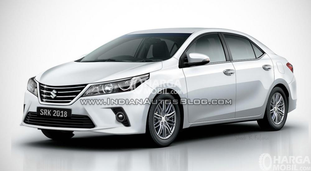 Gambar rekayasa sedan Corolla Altis berlogo Suzuki
