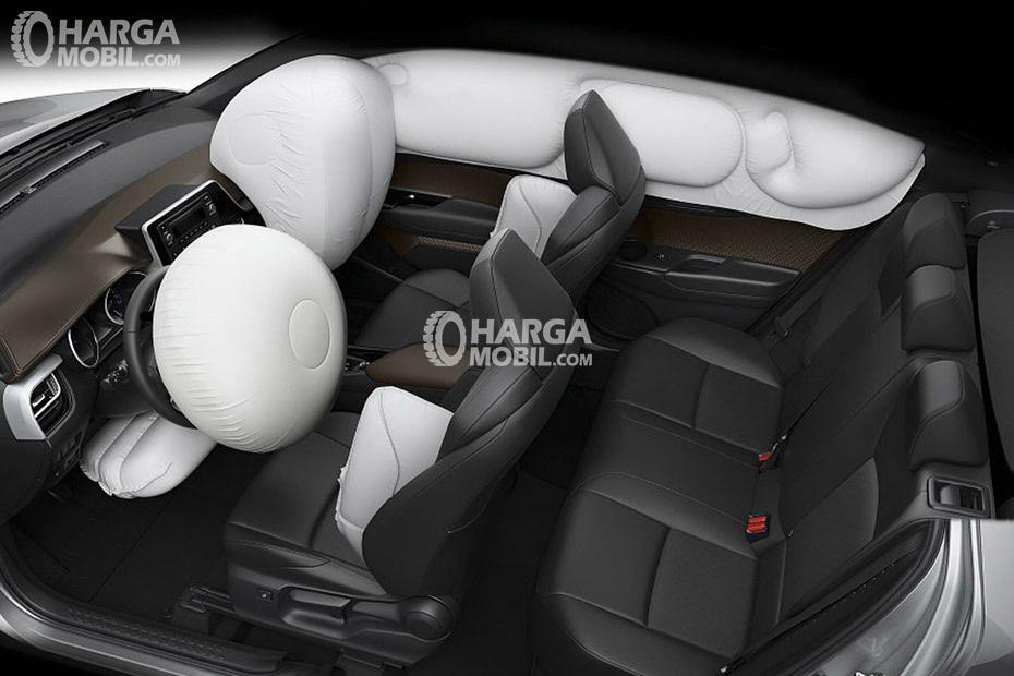 gambar fitur airbag pada toyota c-hr 2018
