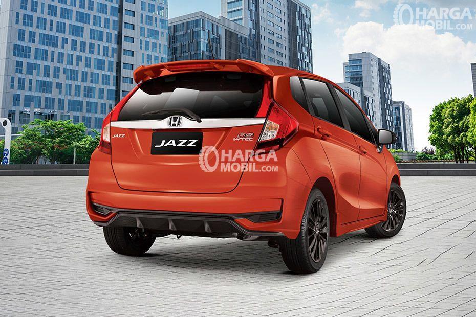 gambar bagian belakang honda jazz 2017 berwarna orange