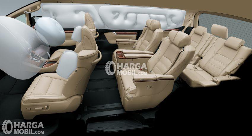 gambar fitur airbag toyota alphard hybrid 2017