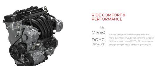 Mitsubishi Xpander 2018 Memiliki Mesin 4A91 MIVEC DOHC 16-Valve