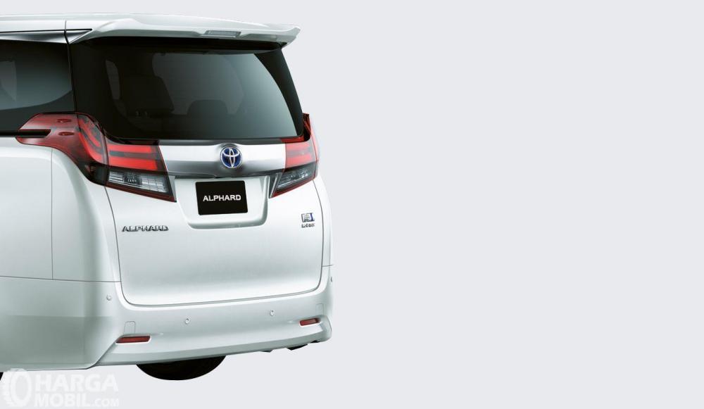 Desian belakang mobil Toyota Alphard 2018