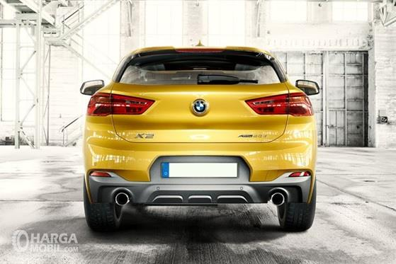 Desain Belakang BMW X2 2018 Sangat Sporty