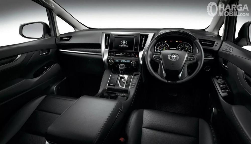 Tampak Interior Toyota Vellfire 2018 dengan kelengkapan fitur di dalamnya
