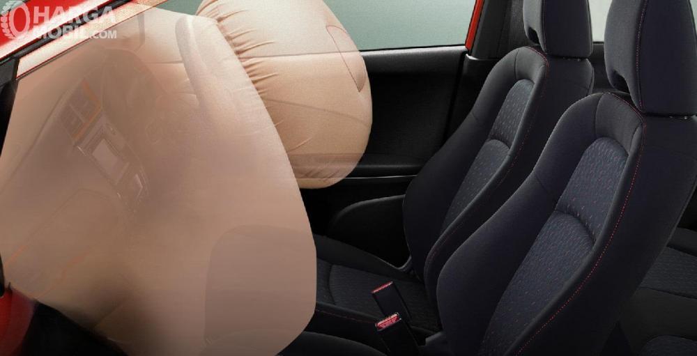 fitur Dual SRS Airbags pada Honda Brio RS 2018 khusus penumpang depan