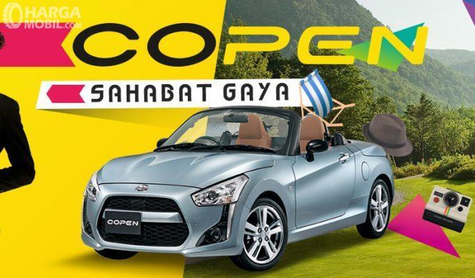 Daihatsu Copen menggunakan atap yang bisa terbuka secara otomatis, memberi sensasi berkendara mewah