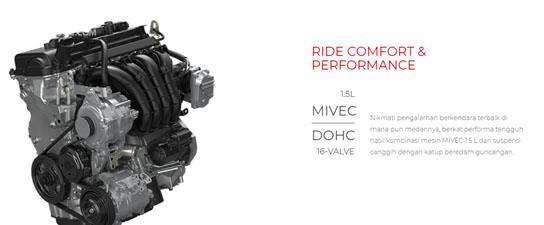 Mitsubishi Xpander GLS AT 2018 Dibekali Mesin 1.5 liter MIVEC DOHC 16 valve