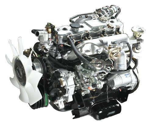 bagian mesin Isuzu Traga 2018 berkapasitas 2.499 cc