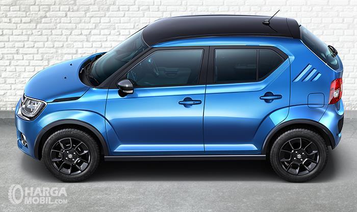 Bagian Samping Suzuki Ignis GL MT 2018 Tidak Ada Roof Rail