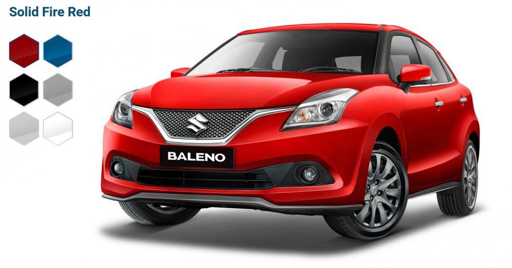 Foto Suzuki Baleno hatchback warna merah