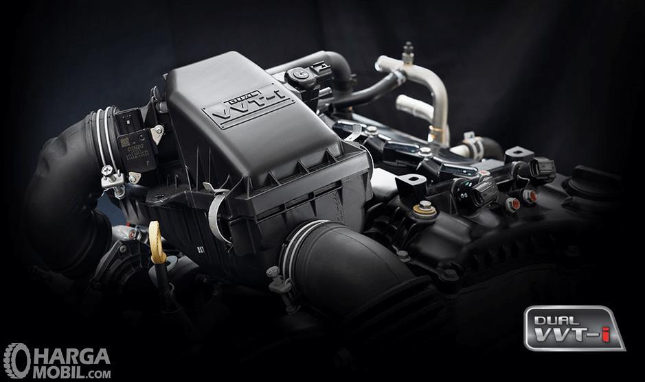 Gambar ini menunjukkan mesin Mobil Daihatsu Xenia dengan teknologi VVT-i