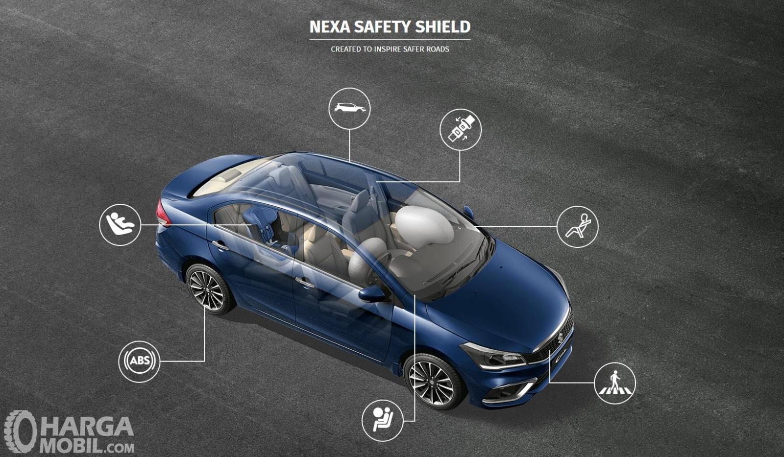 Fitur keselamatan Suzuki Ciaz 2019 sudah dilengkapi dengan teknologi pengereman ABS dan EBD
