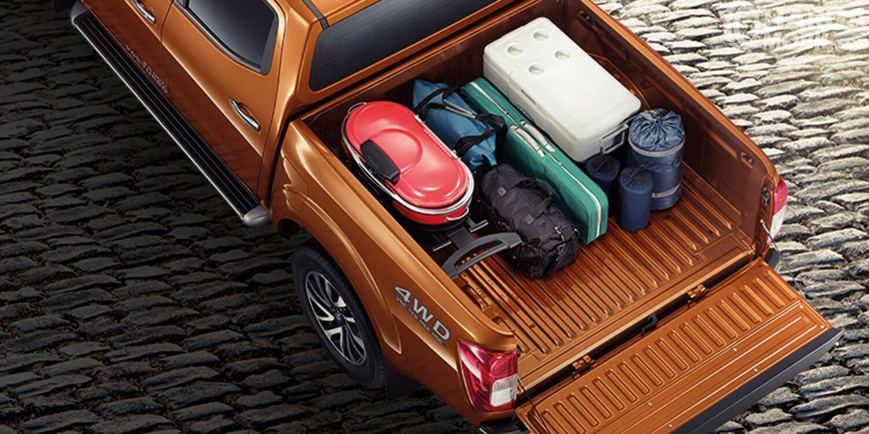 Kapasitas Bak Nissan Navara 2015 memiliki dimensi panjang 1.503 mm dengan lebar 1.560 mm