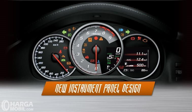 Foto tampilan baru instrumen digital Toyota 86