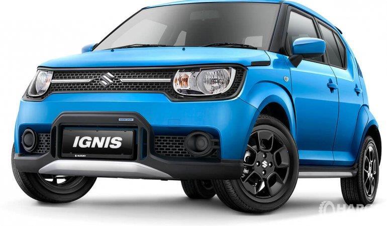 Eksterior depan Suzuki Ignis Sport 2018 menyajikan panel Front Under Spoiler