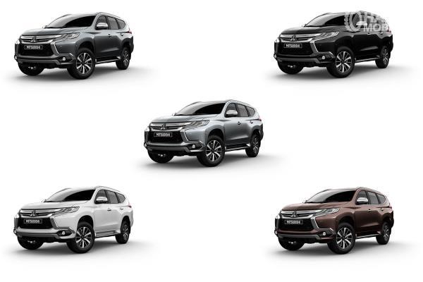 Gambar ini menunjukkan 5 pilihan warna dari Mitsubishi Pajero Sport