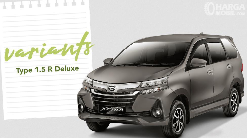 Gambar ini menunjukkan Mobil Daihatsu Grand New Xenia 1.5 R Deluxe 2019 varian tertinggi Xenia