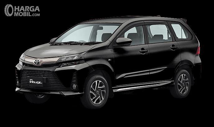 Gambar ini menunjukkan Toyota New veloz 2019 warna black metallic tampak samping