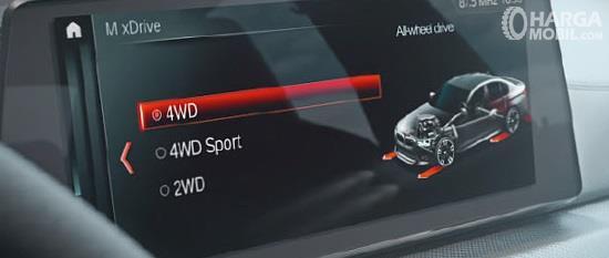 Mode Penggerak BMW M5 2018 tawarkan tiga opsi meliputi 4WD Sport, 4WD dan 2WD