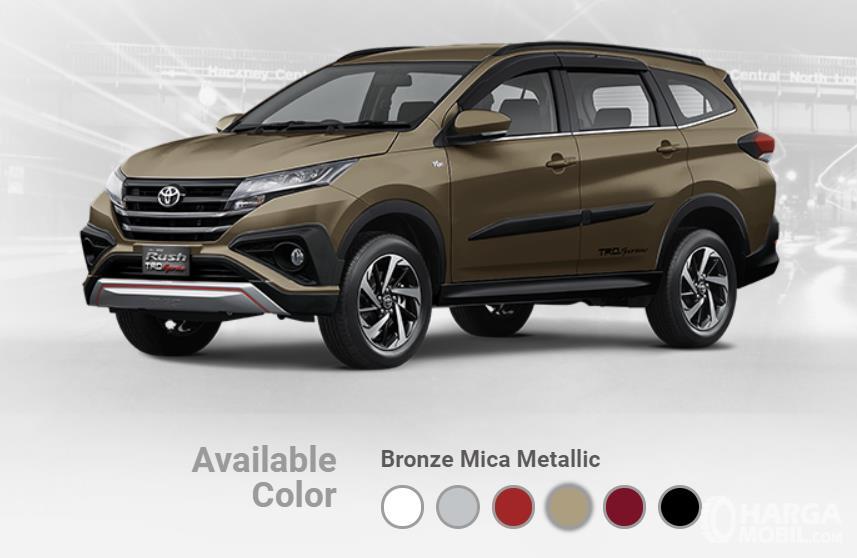 Pilihan warna Toyota Rush terbaru