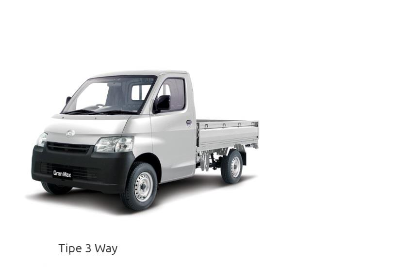 Daihatsu Gran Max Pick Up 3-Way menyediakan bak dengan bukaan tiga pintu