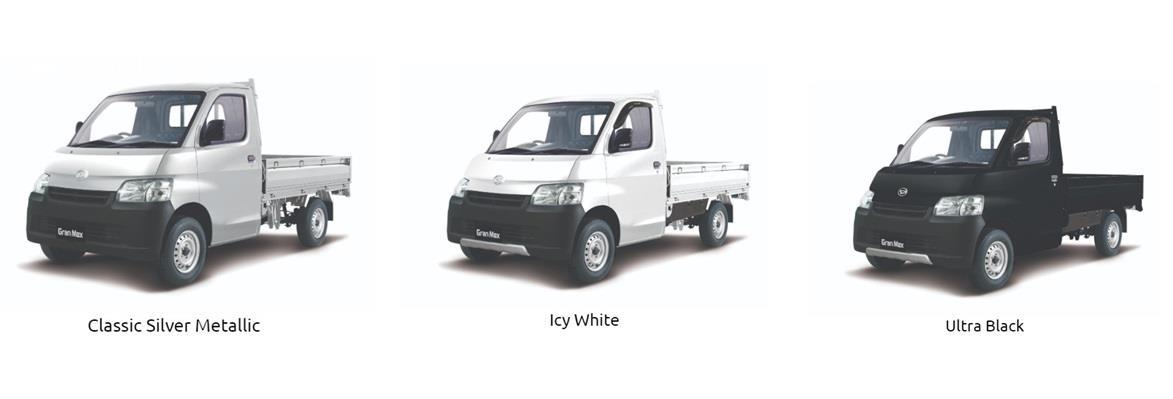 Pilihan warna Daihatsu Gran Max Pick Up menawarkan tiga opsi