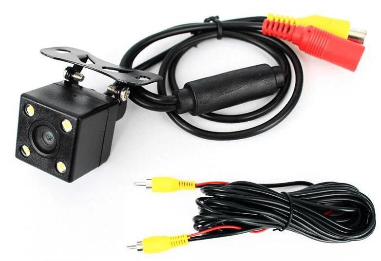 Gambar ini menunjukkan kamera parkir dan kabel instalasi