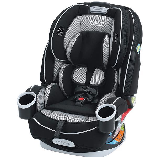 Gambar ini menunjukkan kursi anak dengan warna hitam dan terlihat desain yang menarik