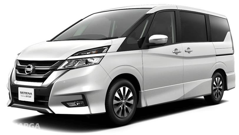 Gambar ini menunjukkan Nissan Serena Highway Star 2019