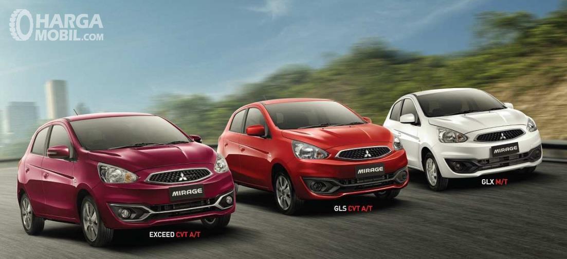 Varian Mitsubishi Mirage terbagi menjadi tiga yakni GLS, GLX dan Exceed