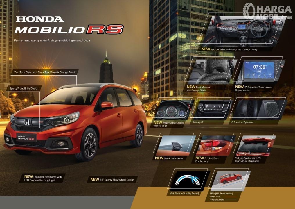 Detail ubahan New Honda Mobilio RS CVT 2019 yang dipublish Honda Prospect Motor