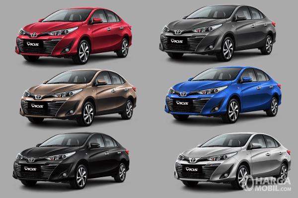 Gambar ini menunjukkan pilihan warna Toyota Vios