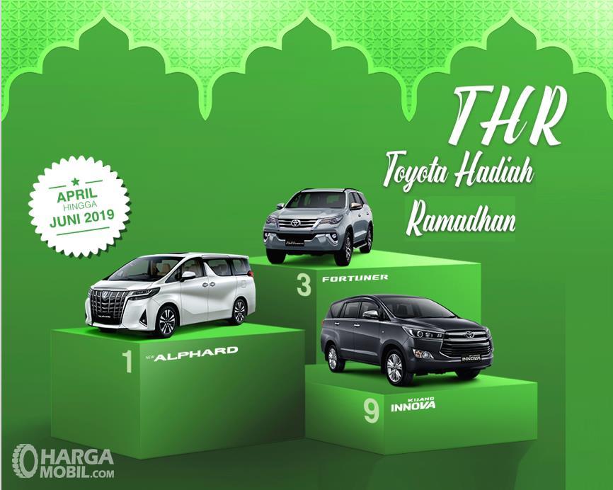 Banner Promo THR Toyota untuk setiap pembelian unit selama Ramadhan