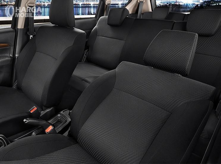 Foto Kursi All New Ertiga Suzuki Sport 2019 semuanya berbalut cover hitam