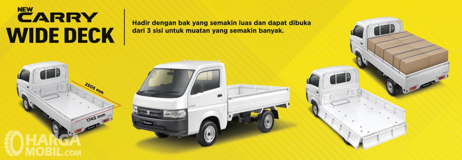 Suzuki New Carry Pick Up Wide Deck 2019 hadirkan model pintu bak 3-Way