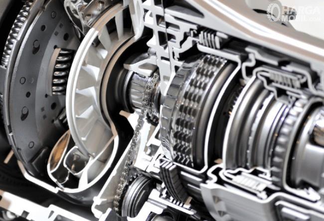 Gambar ini menunjukkan komponen kopling pada mobil