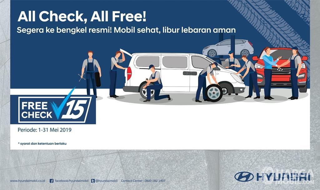 Banner Program Pemeriksaan Gratis 15 Pekerjaan dari Hyundai