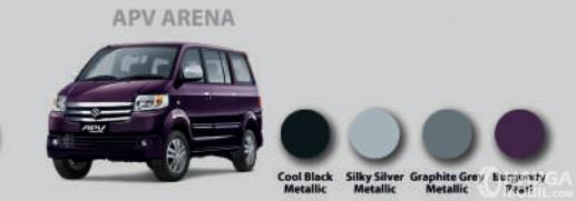 Pilihan Warna Suzuki APV menyediakan 4 opsi atraktif dan stylish