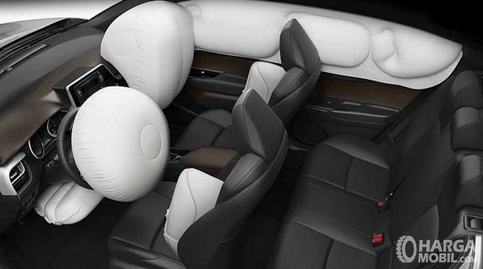 Gambar ini menunjukkan SRS airbag yang terdapat pada Toyota C-HR Hybrid 2019