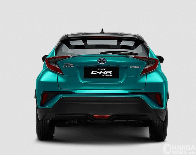 Gambar ini menunjukkan bagian belakang Toyota C-HR Hybrid 2019