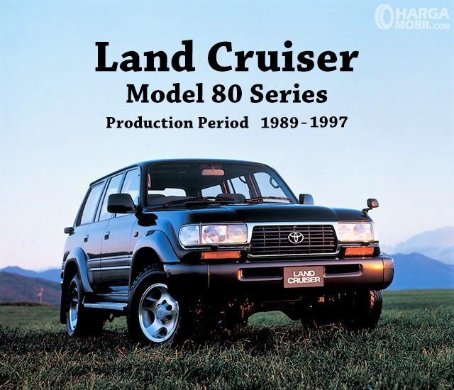Banner Toyota Land Cruiser 80 Series tampak dari depan