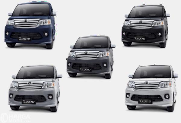 Gamabar ini menunjukkan 5 pilihan warna Daihatsu Luxio