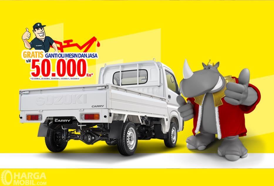 Foto menunjukkan Tampilan belakang Suzuki New Carry Pick Up 2019