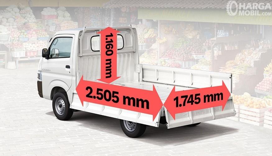 Gambar menunjukkan Ukuran bak Suzuki Carry Pick Up 2019