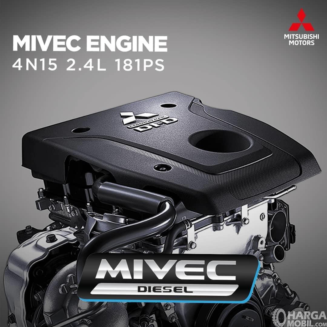 Gambar mesin yang digunakan pada Mitsubishi Pajero Sport RF Limited Edition 2018