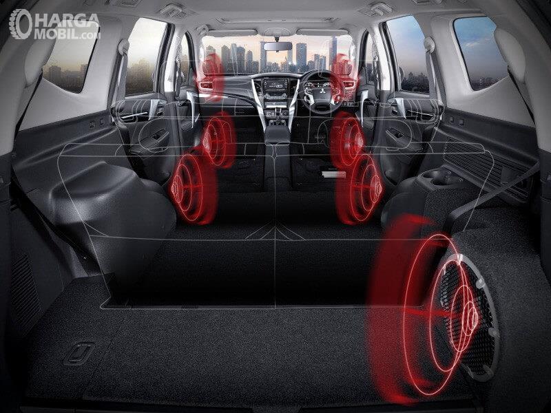 Gambar tatanan Audio system pada Mitsubishi Pajero Sport RF Limited Edition 2018
