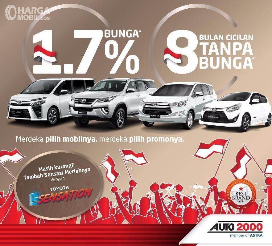 Banner Promo Merdeka di diler Auto2000 - khusus bulan Agustus 2019